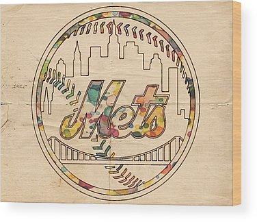 Ny Mets Wood Prints