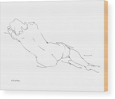 Sensual Drawings Wood Prints