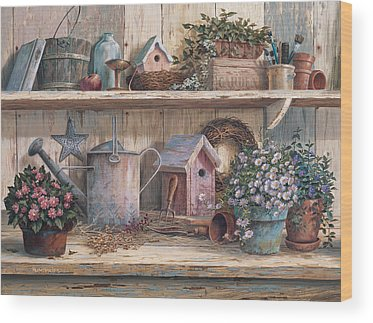 Flower Pot Wood Prints