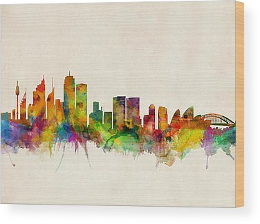 Sydney Skyline Wood Prints