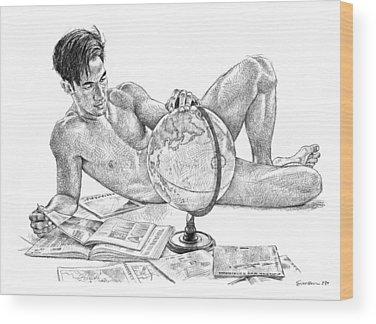Nude Asian Wood Prints