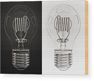 Electric Light Wood Prints