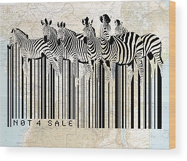 Barcode Wood Prints
