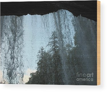 Cullasaja Falls Wood Prints