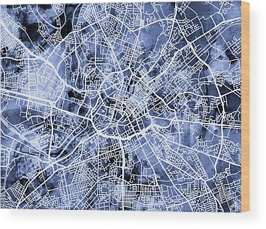 Manchester Wood Prints