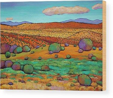 Rocky Mountains Wood Prints