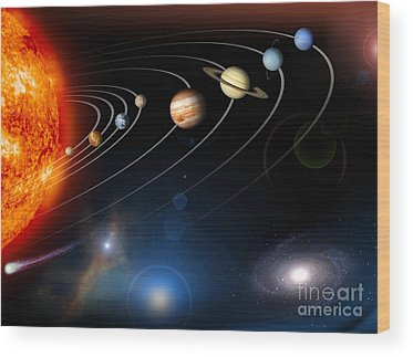 Planet Wood Prints