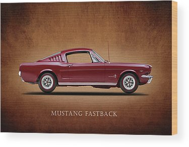 Vintage Mustang Car Wood Prints