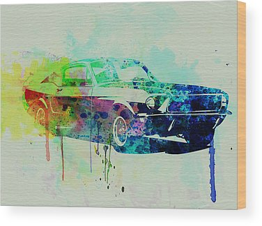 Classic Ford Mustang Wood Prints
