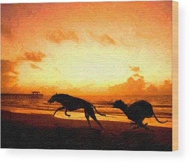 Greyhound Wood Prints