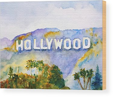 Hollywood Paintings Wood Prints