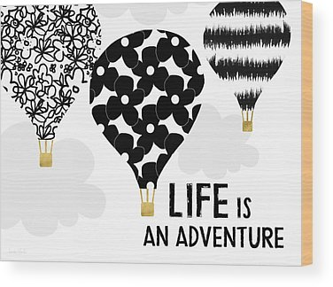 Hot Air Balloon Wood Prints