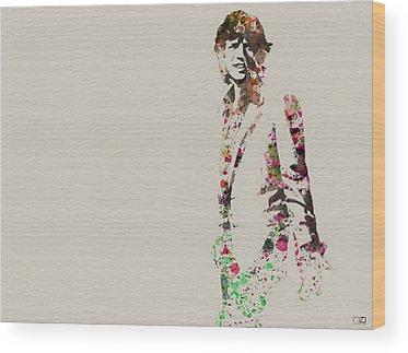 Mick Jagger Wood Prints
