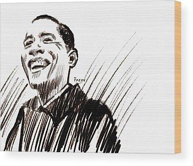 President Obama Wood Prints