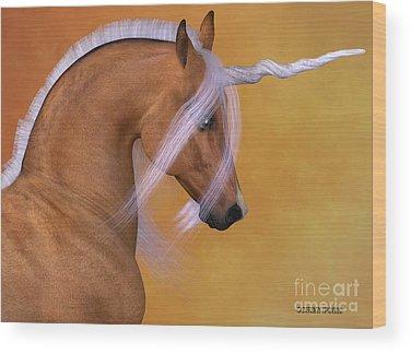 Red Dun Horse Wood Prints