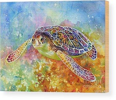 Whimsical Seascape Wood Prints