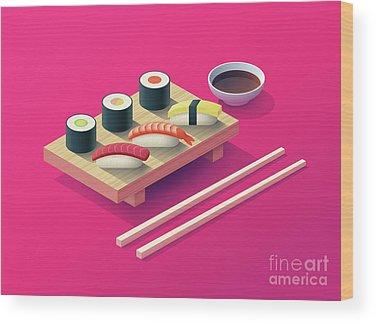 Sushi Wood Prints