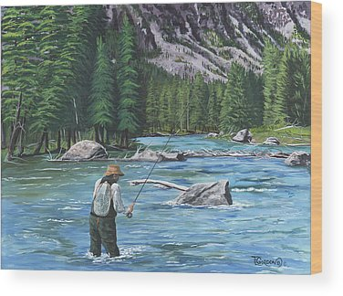 Colorado Fly Fishing River Wood Prints
