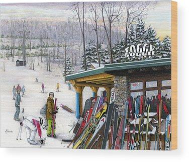 Snow Ski Wood Prints