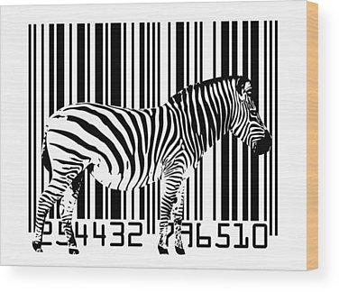 Barcode Wood Prints