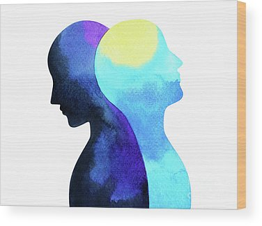 Bipolar Mind Ruangvaree Wood Prints