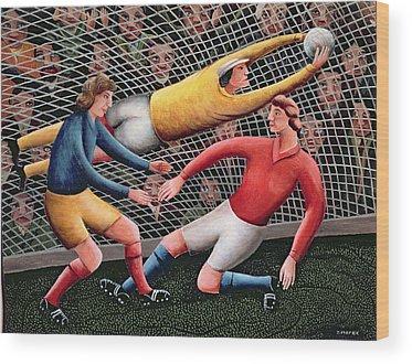 Soccer Games Wood Prints