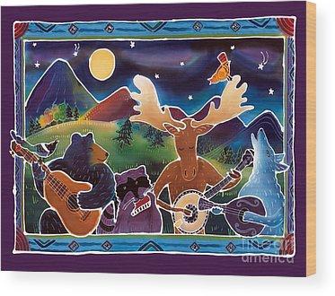 Magpies Wood Prints