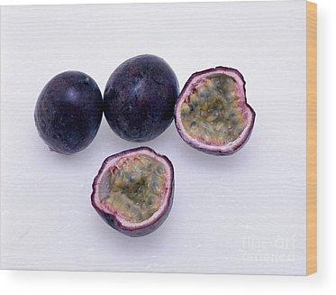 Passionfruit Wood Prints