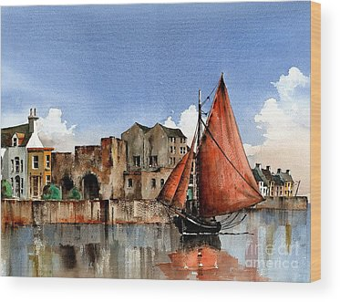 Galway Hooker Wood Prints