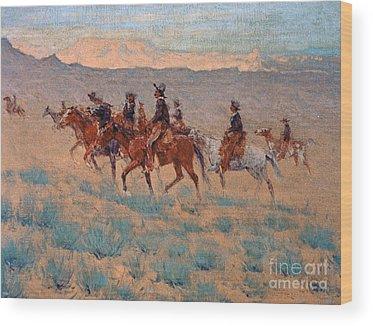 Pioneer Mountains Wood Prints
