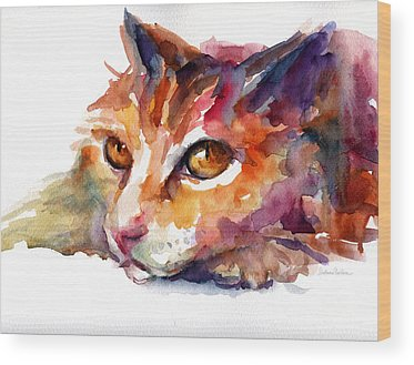 Colorful Cat Wood Prints