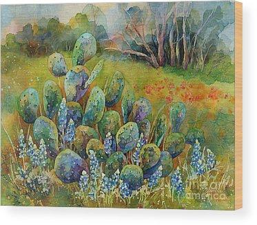 Prickly Pear Cactus Wood Prints