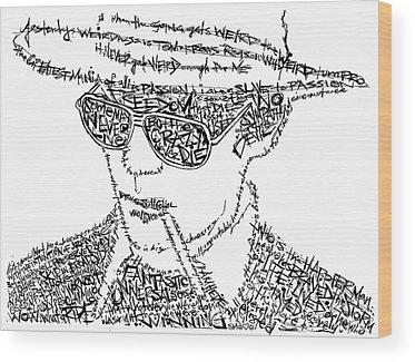 Johnny Depp Wood Prints