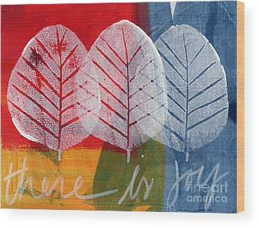 Red Leaves Wood Prints