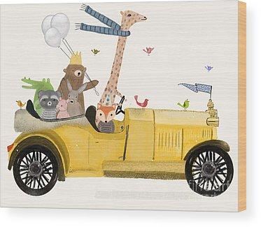 Childrens Illustration Paintings Wood Prints