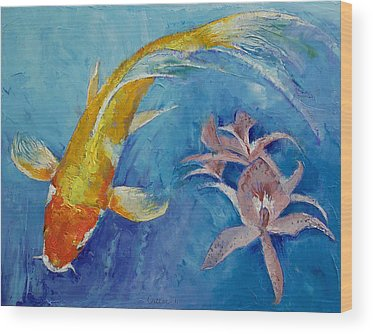 Butterfly Koi Wood Prints