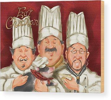 Chefs Wood Prints