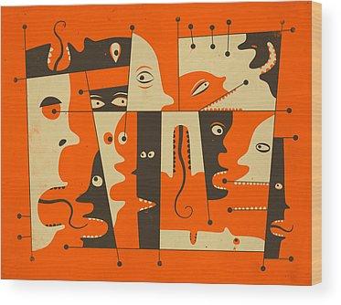Pop Surrealism Wood Prints