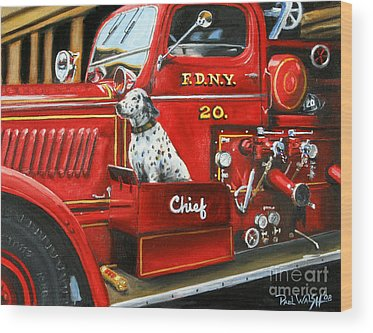 Fire Truck Wood Prints