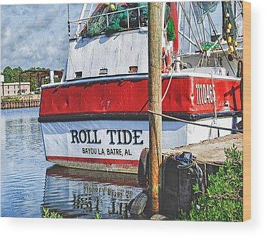 Shrimpboats Wood Prints