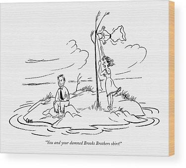 Desert Island Drawings Wood Prints