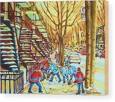 Streethockey Wood Prints
