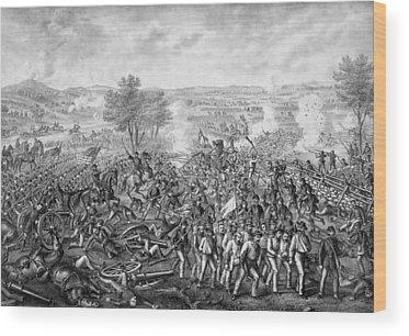 Gettysburg Battlefield Wood Prints