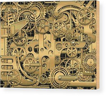 Gears Wood Prints