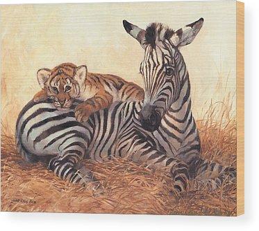African Tiger Wood Prints