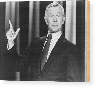 Johnny Carson Wood Prints
