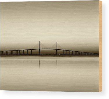 Sunshine Skyway Bridge Wood Prints