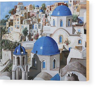 Greece Wood Prints
