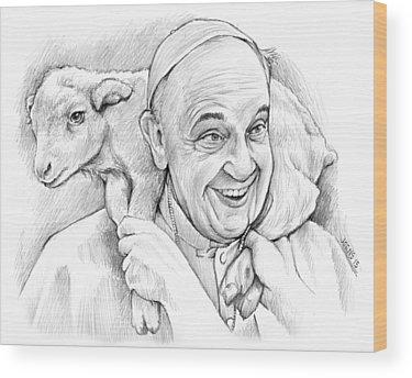Sheep Wood Prints
