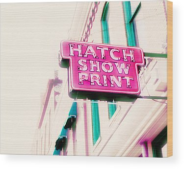 Neon Pink Photographs Wood Prints